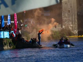 L'arrivée du Marathon des Gorges de l'Ardèche