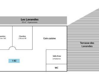Gîte Les Lavandes - Le plan